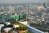 Bangkok (Thailand): the Sky Bar and the restaurant on the rooftop of the State Tower