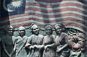 Malacca (Malaysia): bas-relief on the Malay heritage of Malacca's history, inside a shopping mall