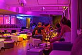 Guests in Eastwest Beach Club, Dubrovnik, Dubrovnik-Neretva county, Dalmatia, Croatia