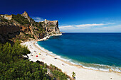 Sandy beach, Cala del Moraig, La Cumbre del So, Valencia, Spain