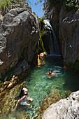 Bathing, Fuentes del Algar, Callosa d'En Sarria, Province Alicante, Spain