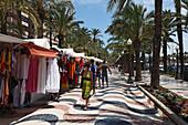 Sales stands, Explanada de Espana, Alicante, Province Alicante, Spain