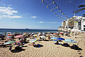 Beach life, Hotel, Costa Blanca, Benidorm, Province Alicante, Spain
