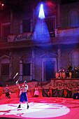 Circus performance, Terra Mitica theme park, Benidorm, Province Alicante, Spain
