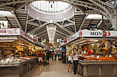 Market hall Mercado Central, Province Valencia, Valencia, Spain