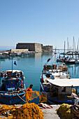 Fortress of Rocca al Mare, Venetian Harbor, Heraklion, Crete, Greece