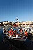 Boats, old venetian port, Rethymnon, Crete, Greece