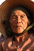 Senior woman, Hoi An, Annam, Vietnam