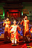 Musicians, theater play, Imperial Theater, Citadel, Imperial City, Hue, Trung Bo, Vietnam