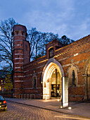 Entrance to the Saint Annen Museum, Hanseatic City of Luebeck, Schleswig Holstein, Germany