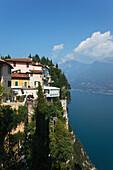 Restaurant Miralago, Terrassen, Pieve, Treve, Gardasee, Lombardei, Italien