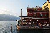 Restaurant, Lakeside, Malcesine, Lake Garda, Veneto, Italy