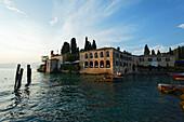 Evening mood, Punta San Vigilio, Hotel, Restaurant, Garda, Lake Garda, Veneto, Italy