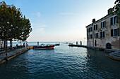 Boat, Punta San Vigilio, Hotel, Restaurant, Garda, Lake Garda, Veneto, Italy