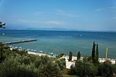 Beach, Sirmione, Lake Garda, Veneto, Italy
