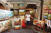 Artist, Gallery, Old Town, Garda, Lake Garda, Veneto, Italy