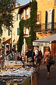 Woman, Market, Torri del Benaco, Lake Garda, Veneto, Italy