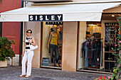 Woman, shopping, Sirmione, Lake Garda, Veneto, Italy