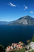 Castello di Vezio, view over Lake Como, Varenna, Lake Como, Lombardy, Italy