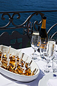 Dish on the table, Hotel Royal Victoria, Varenna, Lake Como, Lombardy, Italy
