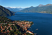 High angle view, Menaggio, Lake Como, Lombardy, Italy