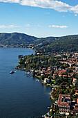 Hight angle view, Lakeside Cernobbio, Lake Como, Lombardy, Italy