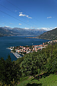 City view, Bellano, Lake Como, Lombardy, Italy