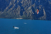 Two Kitesurfer, Lake Garda, Veneto, Italy