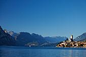 Boat, Scaliger Castle, Malcesine, Lake Garda, Veneto, Italy