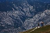 Wanderer, Monte Baldo, Malcesine, Lake Garda, Veneto, Italy