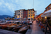 Boats, Harbor, Castelletto di Brenzone, Lake Garda, Veneto, Italy