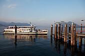 Excursion boat, Stresa, Lago Maggiore, Piedmont, Italy