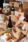 Castelmagno Cheese, Market, Alba, Piedmont, Italy