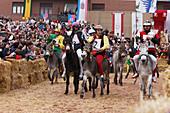 Donkey race, Palio, Alba, Langhe, Piedmont, Italy