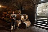 Barolo Barrique, Wine Cellar Ronato Ferrero, La Morra, Langhe, Piedmont, Italy
