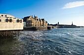 Aberystwyth promenade, University and Castle, Ceredigion Wales UK