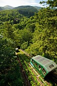 The water-powered cliff railway at The Centre for Alternative Technology, Machynlleth, Powys Wales UK