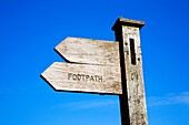 Bronte Way Footpath Sign at Bronte Bridge Haworth Moor West Yorkshire