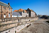 Quayside and Town Walls Berwick upon Tweed Northumberland Englan