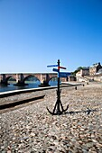 Quayside and Old Bridge Berwick upon Tweed Northumberland England