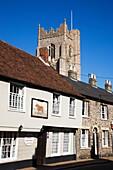 Old Bull Pub and All Saints Church Sudbury Suffolk England