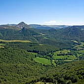 Views from the Puy Griou, Département Cantal, Region Auvergne, France, Europe