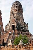 The main prang of Wat Chai Wattanaram, ruined Buddhist temple in Ayutthaya, Thailand