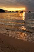 Sunset at Tanjung Rhu beach Langkawi island, Malaysia