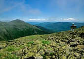 Appalachian Trail - Mount Adams from Gulfside trail in the scenic landscape of the Presidential Range, which is located in the White Mountain National Forest of New Hampshire USA
