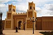 Gate of the new touristic medina, Saidia, Oriental region, Morocco