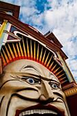 Amusement park entrance, Harbour, St Kilda district, Melbourne, Victoria, Australia