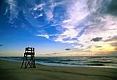 Lifeguard stand on Nauset Beach, Cape Cod National Seashore, MA