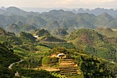 view from Quan Ba Pass on the road to Yen Minh, Ha Giang province, northern Vietnam, southeast asia