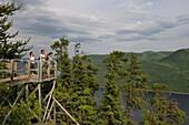 observation platform over Eternite bay, Saguenay National Park, Riviere-eternite district, Province of Quebec, Canada, North America